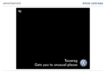 ad for touareg says Gets you to unusual places